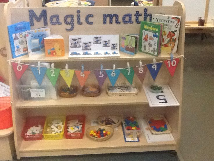 Mathematics resource shelves