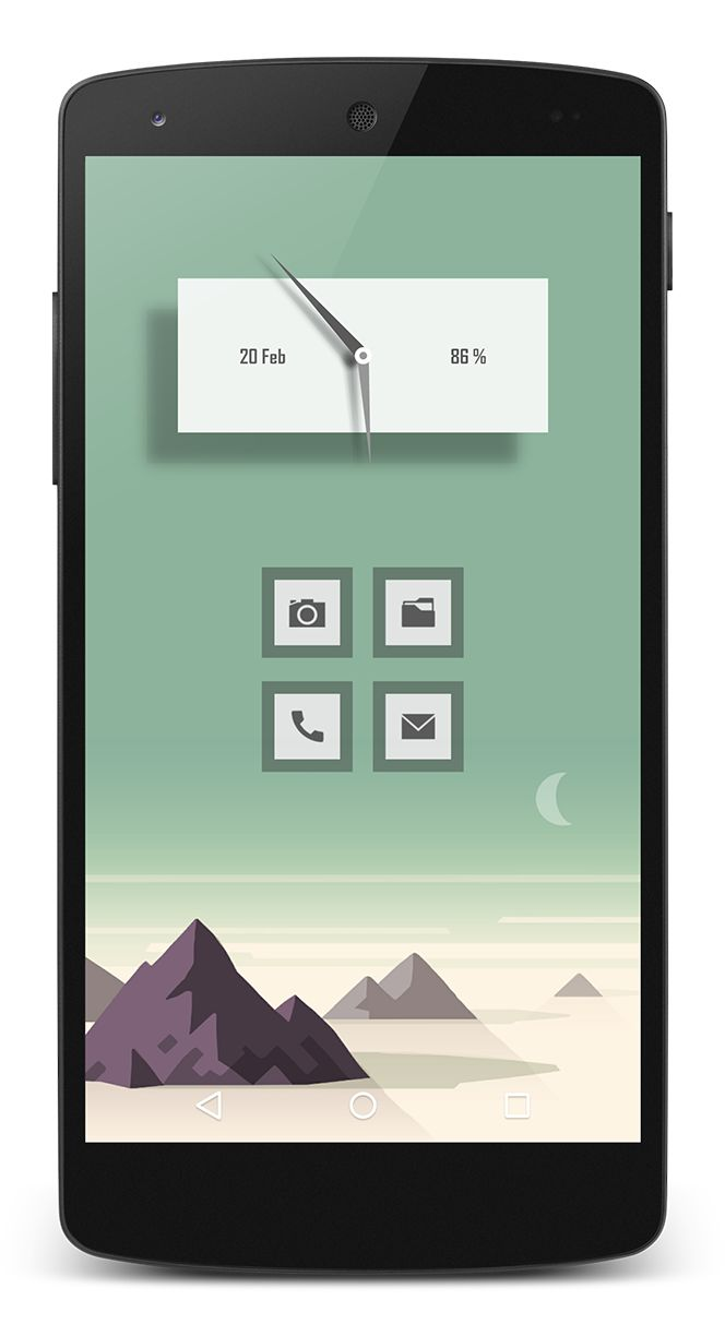 RX Tile Zooper Widget (colored white) by @rkucheran Lucent Icons by vanessaem