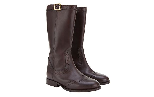 """Brown Buckle Boots. """"The perfect all rounder, she'll love wearing these black buckle boots with dresses or jeans."""""""