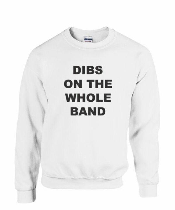 Ribs on the whole band sweatshirt!