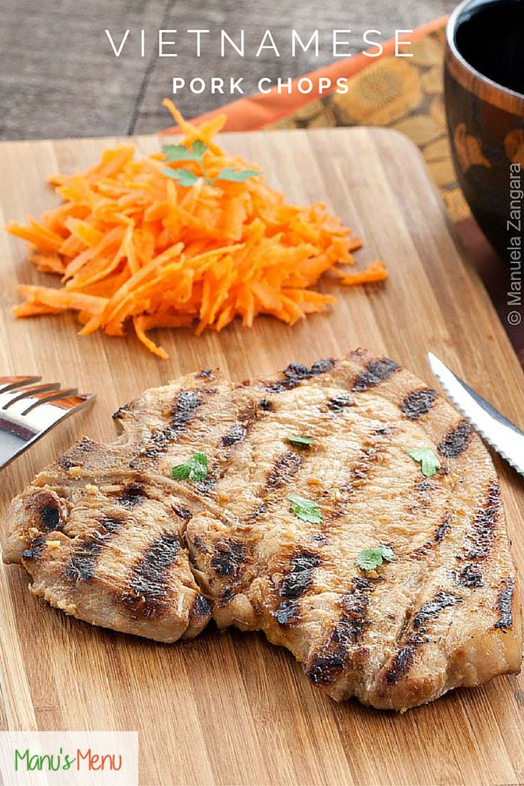 Vietnamese Pork Chops - tangy and slightly spicy marinated Vietnamese style pork chops that will make your mouth water!