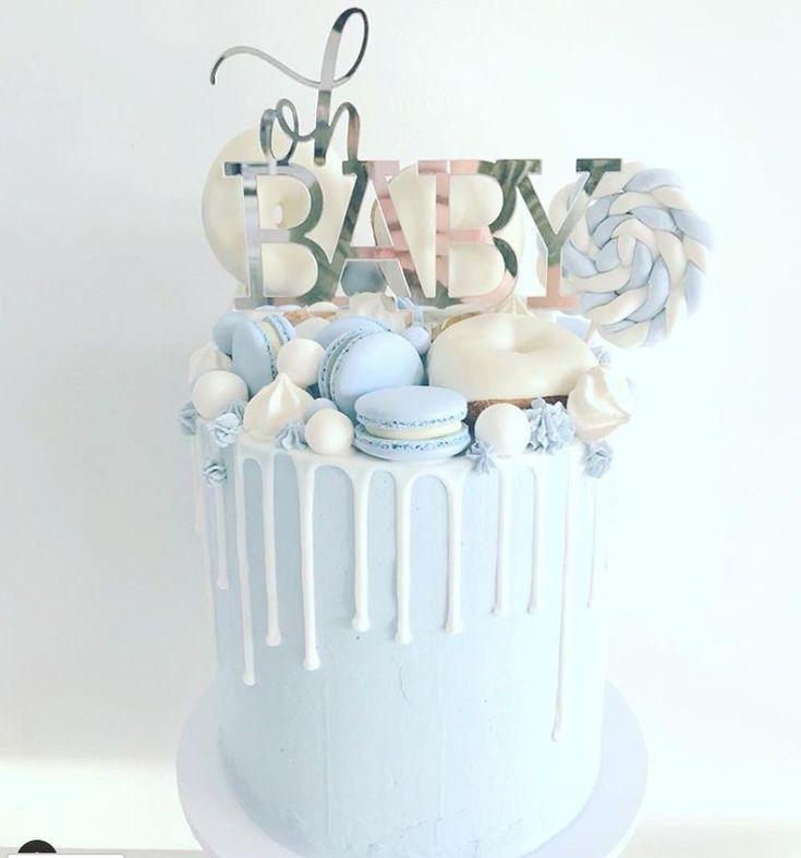 15 superbes gâteaux de douche de bébé garçon – idées de gâteau de douche pour bébé …   – Diy Baby Ideen