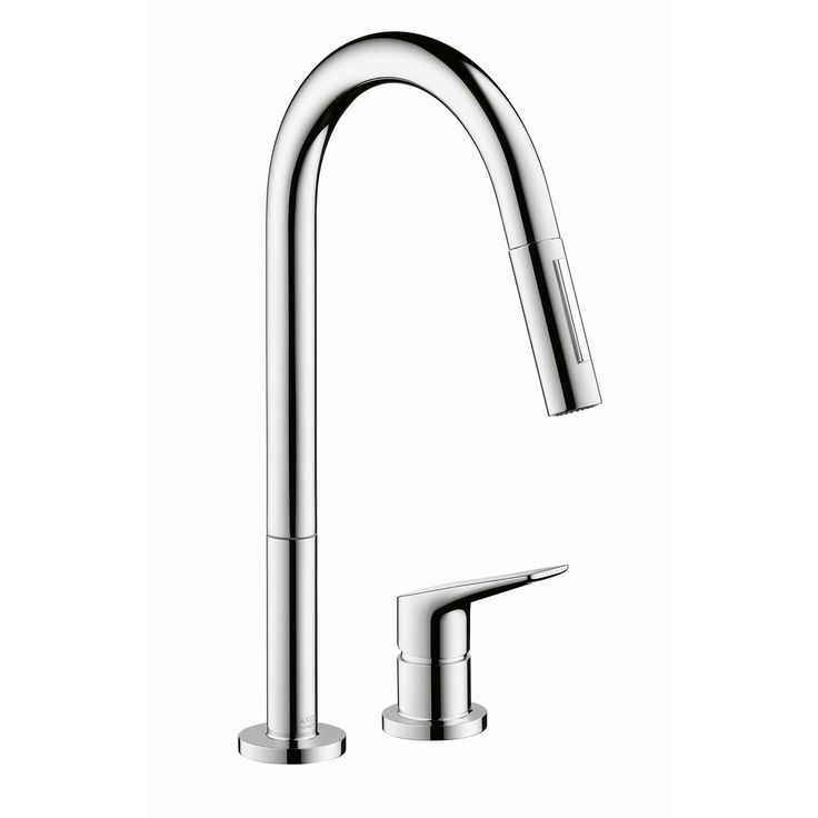 Hansgrohe  Axor Starck Pull Down Kitchen Faucet With High Arc Spout