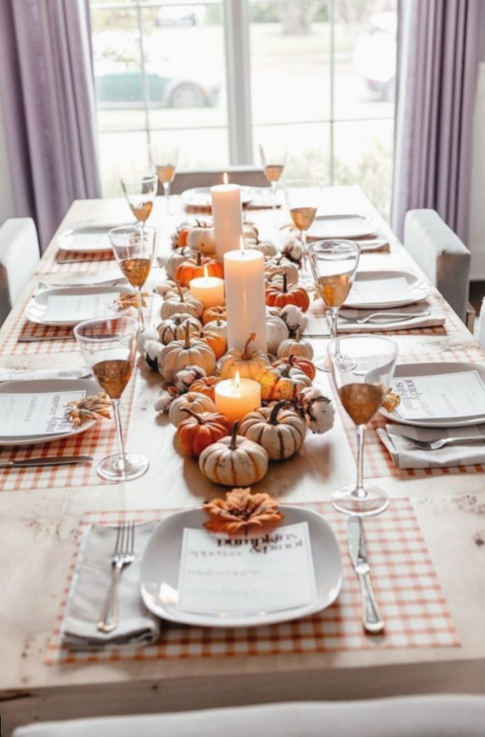 15 Dinner Table Decorations Diy In 2020 Thanksgiving Dinner Party Thanksgiving Table Decorations Thanksgiving Table Centerpiece