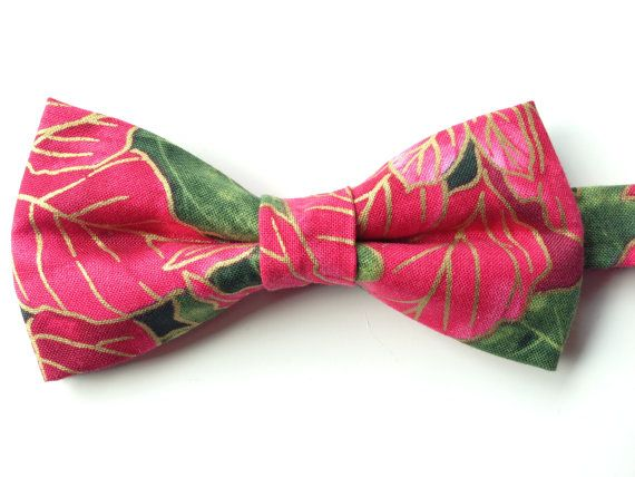 Christmas Bow Tie Holiday Bow Tie Poinsettia Bow by WatfordTies