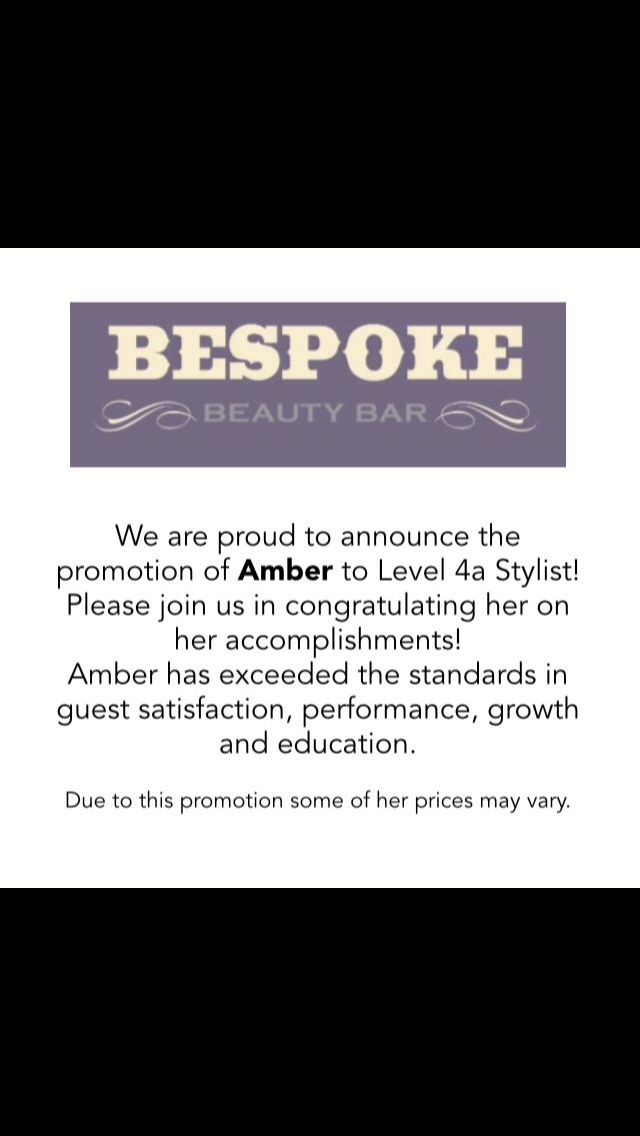 We are proud to announce the promotion of Amber to Level 4a Stylist! #pittsburghhaircolor #pittsburghbalayage #pittsburghhairsalon  #pittsburghhairextensions #pittsburghhairstylist #pittsburghhair #pittsburghhaircut #cranberryhaircut  #cranberryhaircolor #cranberrybalayage
