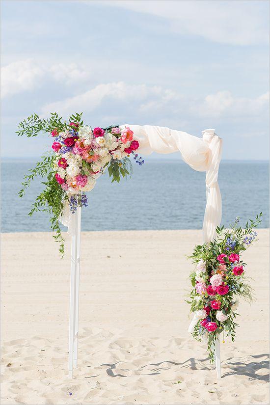 Best 25 beach wedding arches ideas on pinterest beach wedding blue and pink elegant wedding beach wedding archeswedding junglespirit Images