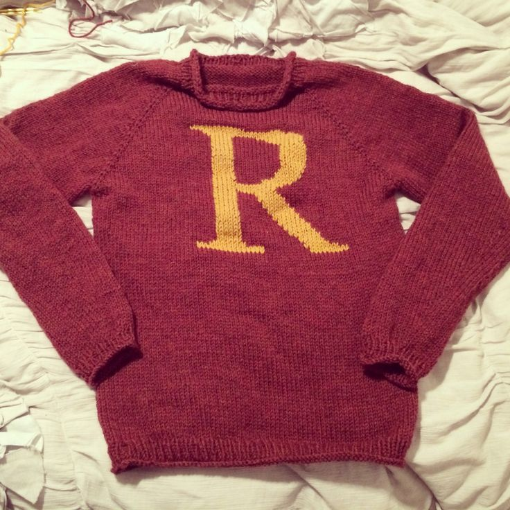 Ron weasley, Knit sweaters and Home made on Pinterest