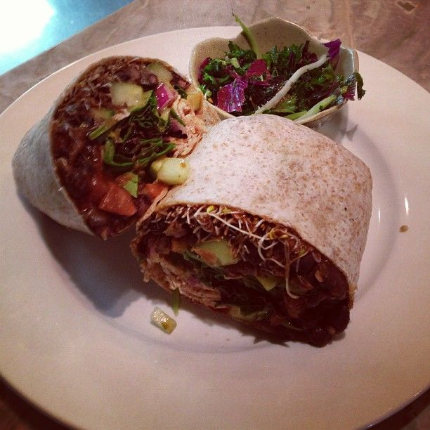 Our Black bean burrito! #lunchtime