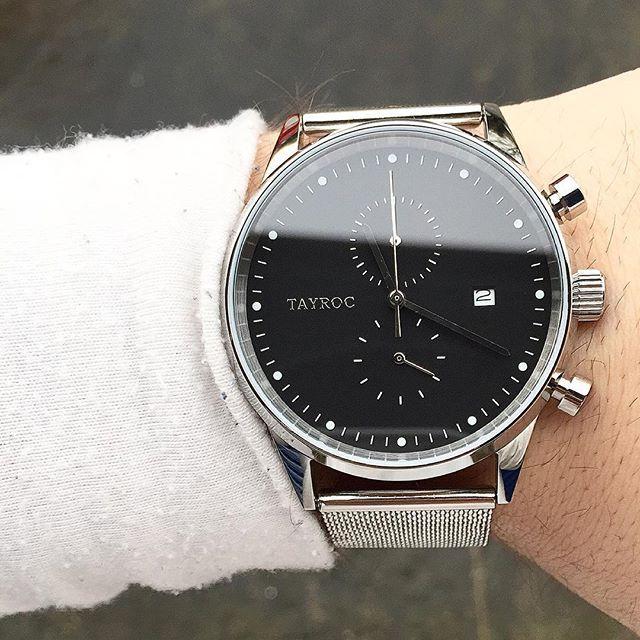Tayroc The Boundless TXM088 Silver Meshband bei tiqtoq online bestellen ✓ Farben: Silber und Schwarz ✓ Armband: Edelstahl, Milanaise ✓ Kostenlose Lieferung!