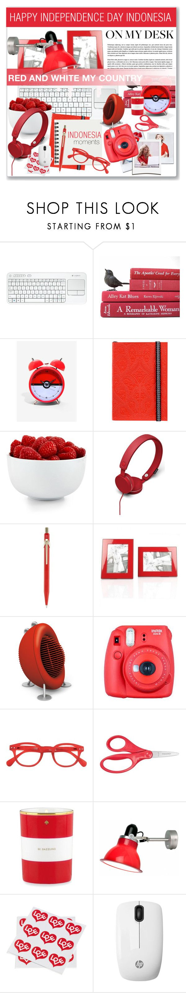 """""""HAPPY INDEPENDENCE DAY INDONESIA"""" by nanawidia ❤ liked on Polyvore featuring interior, interiors, interior design, home, home decor, interior decorating, Logitech, Christian Lacroix, The Cellar and Urbanears"""