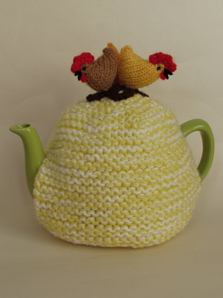 Country Chickens tea cosy knitting pattern
