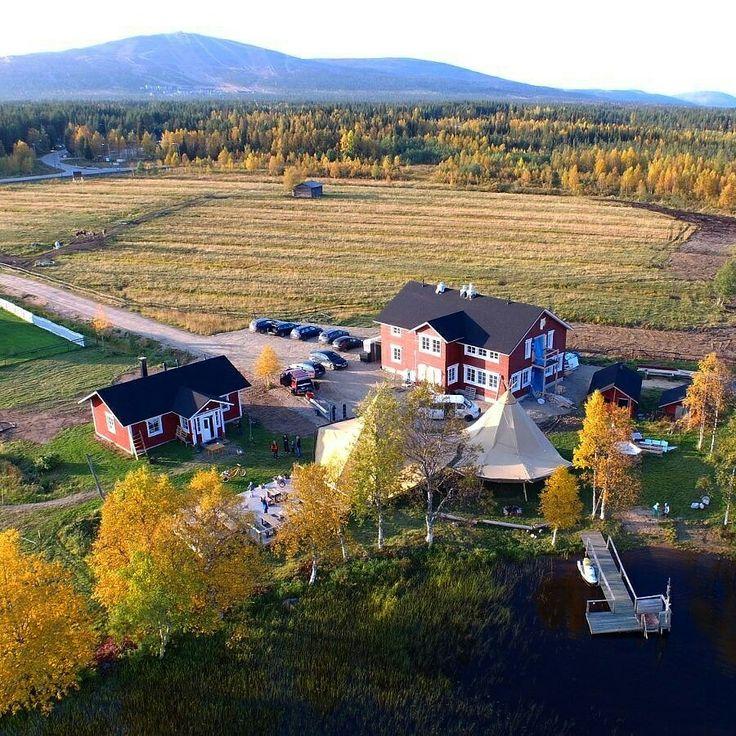 Air photo, so cool! Ylläsjärvi in Finnish Lapland.