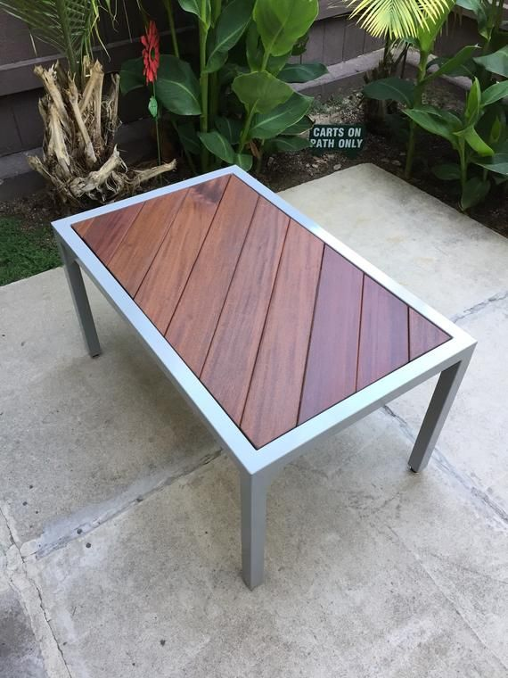 ironwood outdoor coffee table etsy
