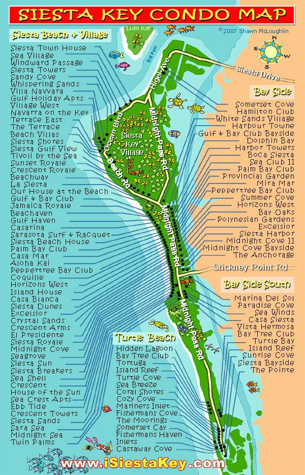 siesta+key | Siesta Key Beach Map