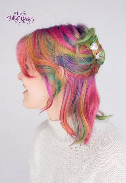 Are you bold enough to rock rainbow hair? Yea or nay, you can work these lovely U-Pins from Lilla Rose!