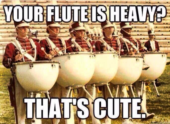 Percussion 1, Flutes 0 @Julia Marie @Alyssa Cline
