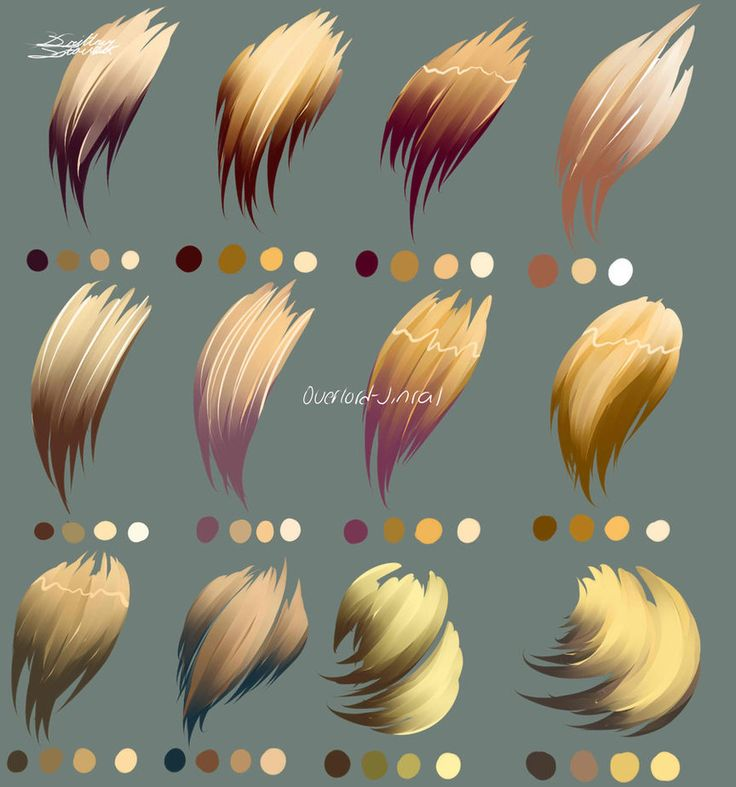 Blond Hair Colors by Overlord-Jinral on DeviantArt