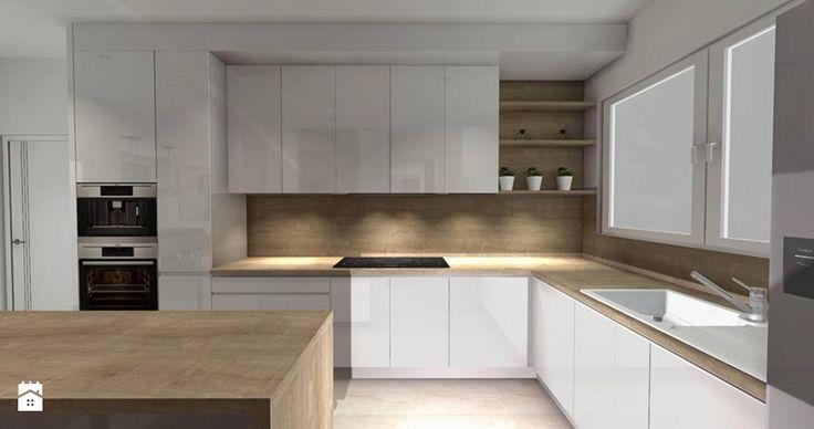 Kuchnia w bieli  zdjęcie od Smart Design Sara Tokarczyk   -> Kuchnia Z Okapem Teleskopowym