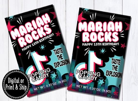 Musical Birthday Poppin Candy Music Theme Music Birthday Etsy In 2021 Happy 13th Birthday Music Party Favors Birthday Fun