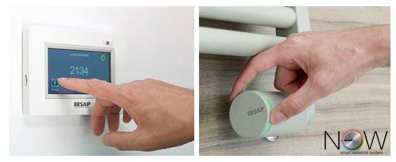 Radiatori Irsap & sistema di termoregolazione NOW: gesti quotidiani di design. -   Irsap radiators & NOW thermoregulation system: daily design actions.