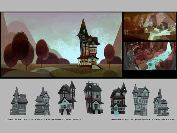 Visual Development Portfolio by Ann Marcellino, via Behance