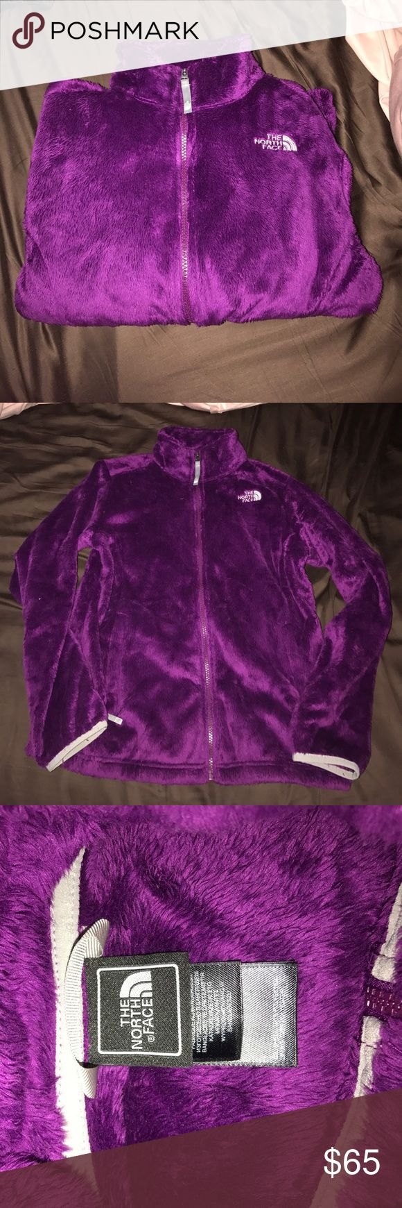 Girls North face Jacket Soft and cozy purple jacket! only used several times  fuzzy and pretty lightweight!  in practically brand new condition!! The North Face Jackets & Coats