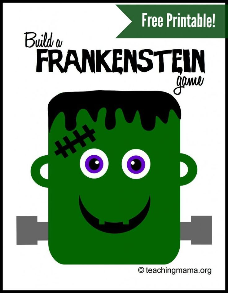 Build a Frankenstein Game -- Free Printable for a super fun game!