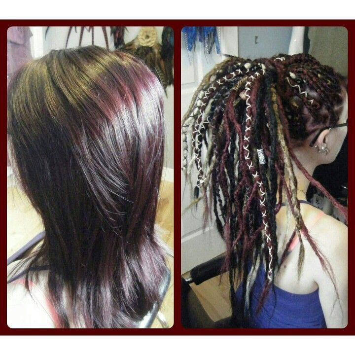 Temporary dreads done @ mayalotus creative body wares