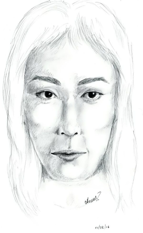 A pencil sketch of a face that came to mind. Don't know who it is of.