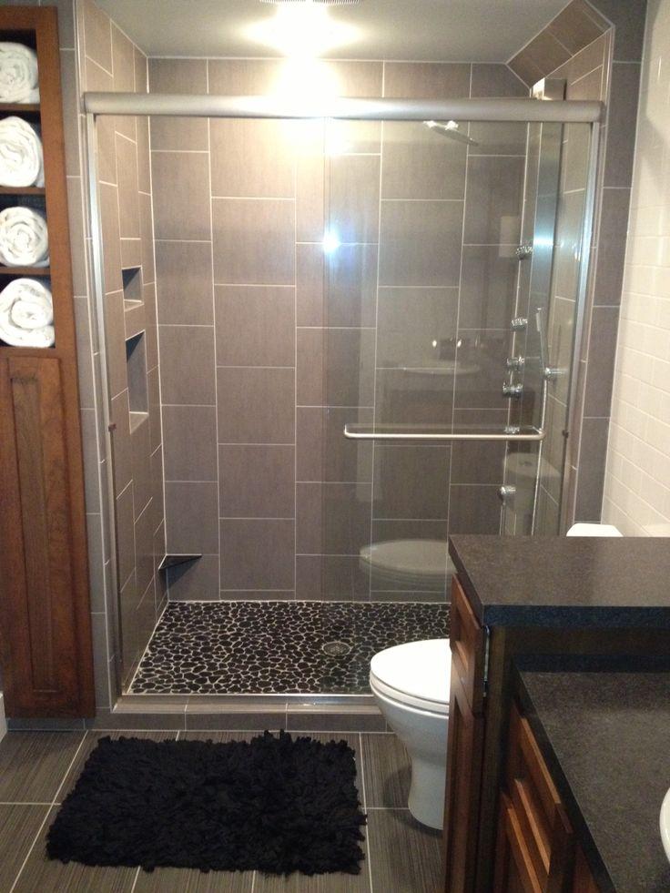 Bathroom cameron gatzow design for the home pinterest for Farmhouse bathroom tile design ideas