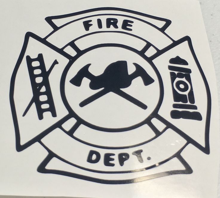 Fire Department Firefighter DECAL for Yeti Tumbler  With Monogram Initials by LeslisDesigns on Etsy