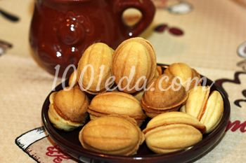 Печенья Орешки из детства с вареной сгущенкой