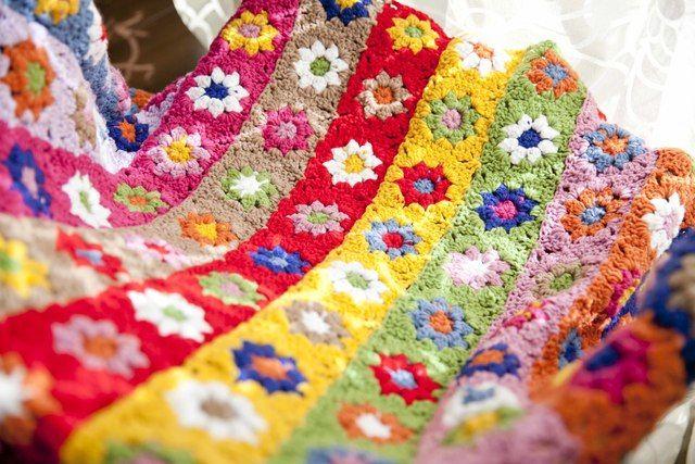 ハンドメイドかぎ針編み お花 モチーフ★手作り/編み物★