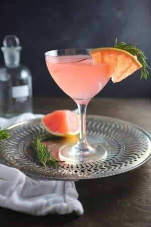 The French Tart (Grapefruit, St. Germain and Rosemary Cocktail)