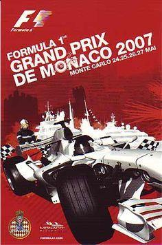 2007 Monaco  Grand Prix poster