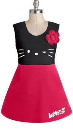 a hello kitty dress of mine