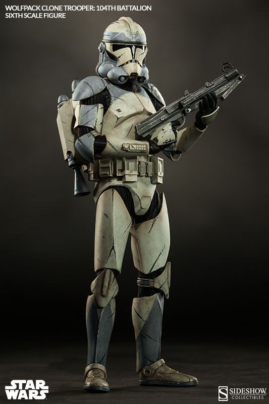 Star Wars Wolfpack Clone Trooper: 104th Battalion Sixth Scal | Sideshow Collectibles