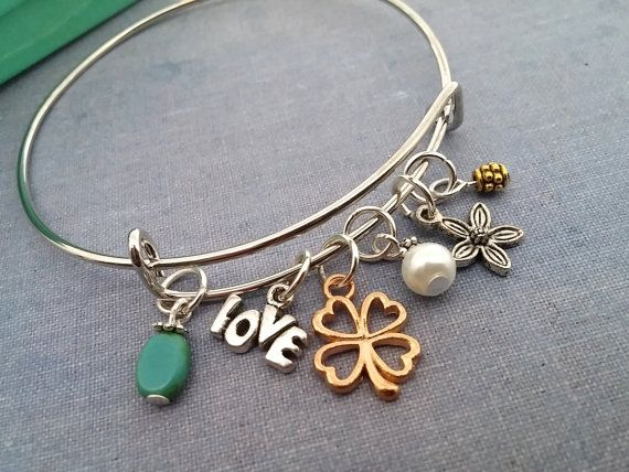 Bracelet Shamrock valentine  Friendship Gift by 4Everinstyle