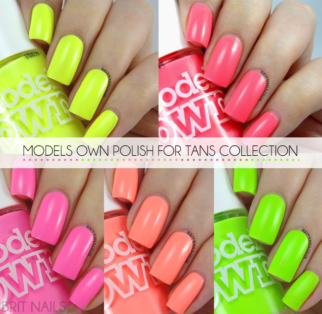 Models Own Polish For Tans Collection Swatches and Review