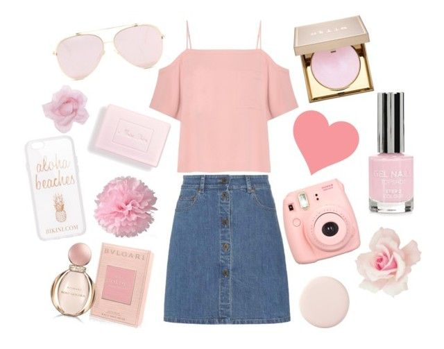 Pink Pastels by monique-joanne on Polyvore featuring polyvore, fashion, style, T By Alexander Wang, Miu Miu, Monsoon, Stila, Bulgari, Topshop, Polaroid, Christian Dior and clothing