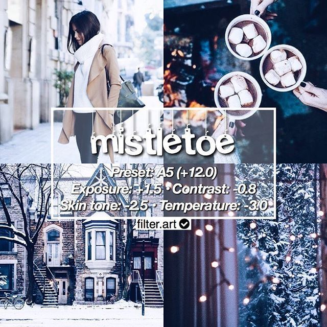 perfect with: christmas objects « question: wish for christmas? ••• update now your vsco app to get the new adjustments ☁️ ps. there has no big difference if you don't update your app coz +1.0 is equal to +1 so not a big deal ••• for old adjustment: A5 +12 ł Contrast +1 ł Exposure +1 ł Skin tone -3 ł Temperature -3