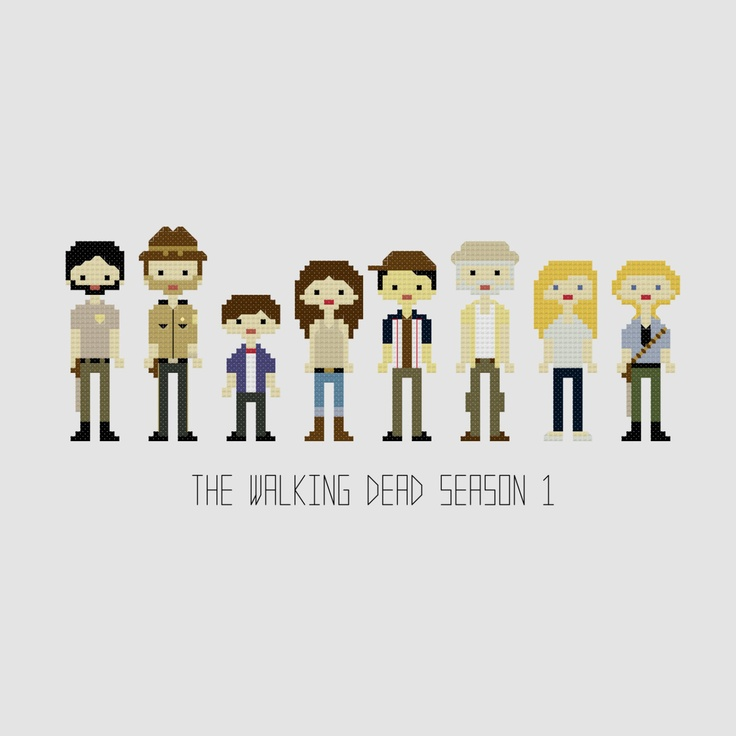The Walking Dead Season 1 Cross Stitch  by YouMakeMeSewHappy, $8.99