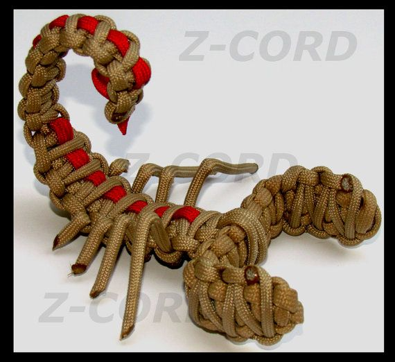 925 a silver Paracord Scorpion by ZCORD on Etsy
