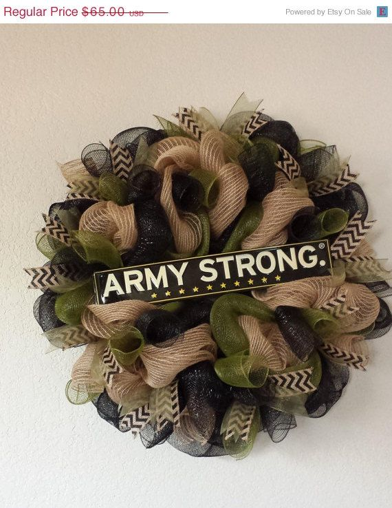 Show your love and support for our service men and women with a wonderful military wreath. I can custom make your favorite branch of service