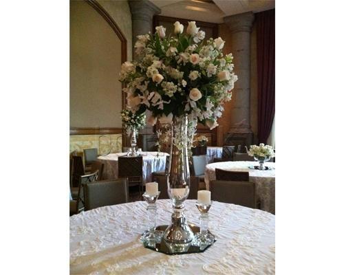 Centro de mesa alto para boda