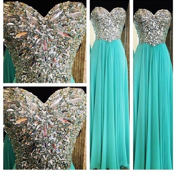 The best prom dress aqua ❤ liked on Polyvore