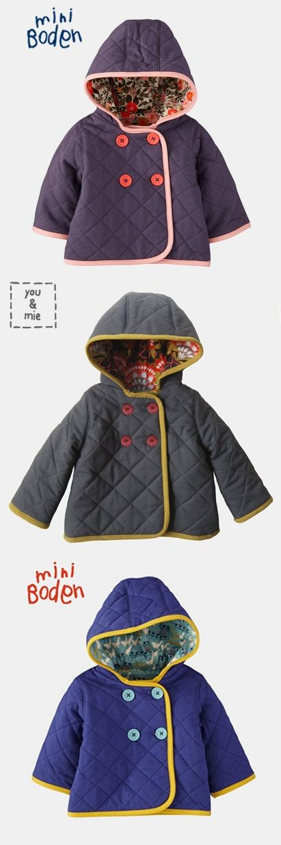Quilted Jacket {Mini Boden Knock Off}   you and mie Here is the tutorial I've been looking for!