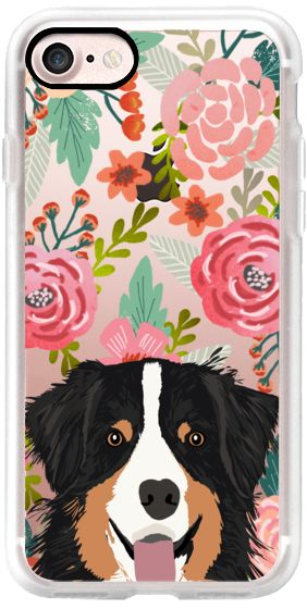 Casetify iPhone 7 Classic Grip Case - Australian Shepherd floral flowers gardening spring dog person dog people iphone6 transparent cases  by Pet Friendly #Casetify
