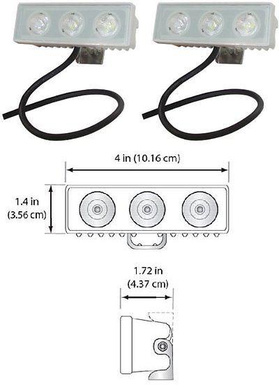 Lights 123489: Shoreline Marine Led Spreader/Docking Light - 2 Pack New -> BUY IT NOW ONLY: $95.97 on eBay!